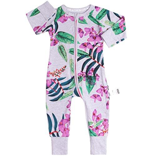 Vine Trading Co.,Ltd Baby Overalls Mädchen Schlafanzug Baumwolle Stramper Spielanzug Langarm Body Reißverschluss 3-6 Monate