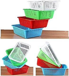 Sohapy Storage Baskets Tray Box Desk Organizer Organization Bins Container Plastic Teaching Classroom Supplies Holders for...
