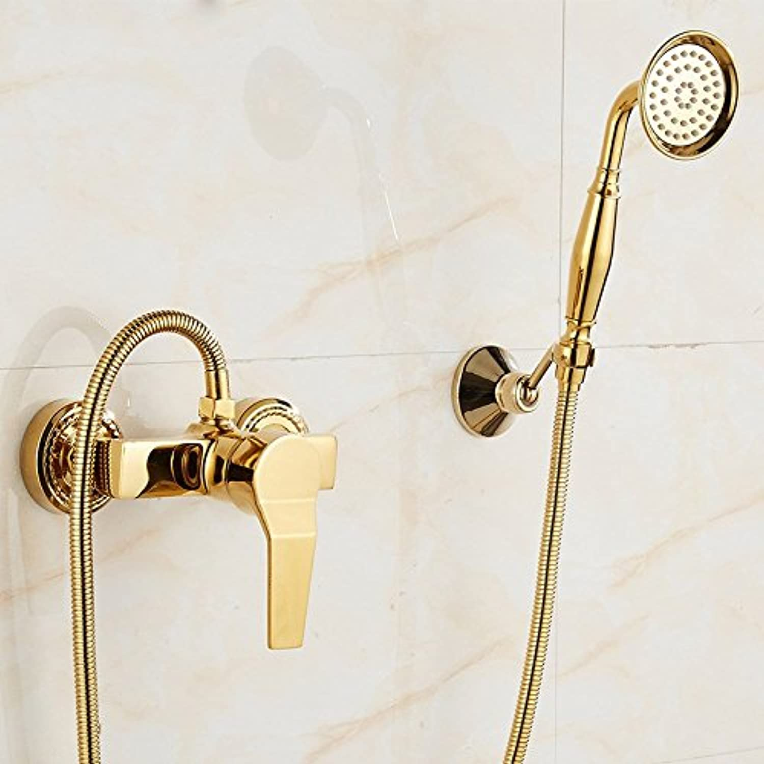 ETERNAL QUALITY Bathroom Sink Basin Tap Brass Mixer Tap Washroom Mixer Faucet The golden shower small shower kit single handle hot and cold Bath Faucet Kitchen Sink Taps