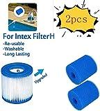 Cartucho de esponja para filtro Intex tipo H, reutilizable, lavable, cartucho de repuesto para piscina, jacuzzi, spa, filtro de piscina, 2 unidades.