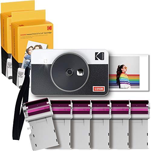 KODAK Mini Shot Combo 2 Retro Kamera & DRUCKER + 68 Bilder, 5.4 x 8,6 (2.1x3.4) Sofortbild-Kamera, Kameras für Sofortbilder als Polaroid Ausdruck, Fotodrucker für Smartphone, 68 Foto