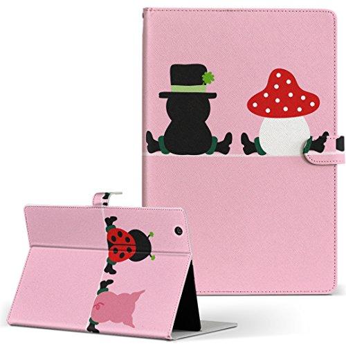 igcase Gecoo Tablet A1 Light ギーク A1G タブレット 手帳型 タブレットケース タブレットカバー カバー レザー ケース 手帳タイプ フリップ ダイアリー 二つ折り 直接貼りつけタイプ 007695 ユニーク ピンク キャラ