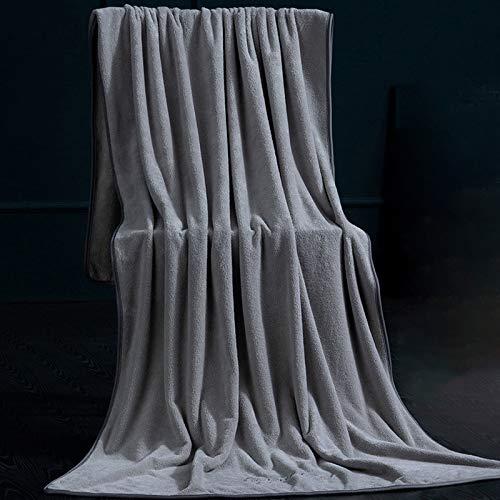 ZJHCC Toallas,Toallas de baño Grandes,Toallas de algodón,Toallas de baño para Uso doméstico,de algodón para Hombres y Mujeres Toallas Grandes,absorbentes y envueltas de Secado rápido180 * 95cm