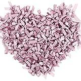 200pcs Lazos de Cinta para Regalo 4 x 4cm Lazos pequeños para Decoración Feistas Cumpleaños Boda Manualidades DIY Pelo Envolver Regalo Rosa