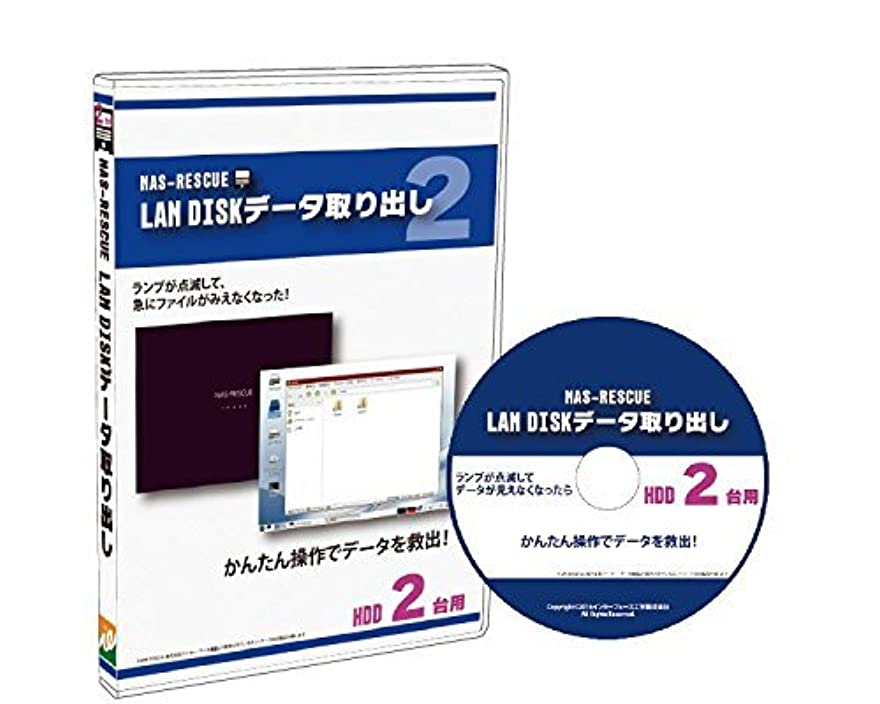 要旨派生する後方LAN DISKデータ取り出しHDD2台用