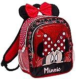 Disney Minnie Mouse - Zaino con orecchie di peluche e fiocco, Minnie Mouse (Rosso) - MNCK10890
