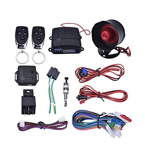 YANG Store Sistema de vehículos de vehículos de alarma de automóviles Sistema sin llave de la puerta central remota de 1 vía con 2 sistemas de seguridad de protección antirrobo de control remoto