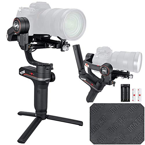 Zhiyun Weebill S[Official Standard Package] 3-Axis Gimbal for Mirrorless and DSLR Cameras, Tripod, Carrying Case, Cleaning kit, 14 Hours Running Time