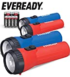 Eveready LED Flashlight, 4-Pack, Bright and Durable, Batteries Included