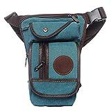Xieben Canvas Drop Leg Bag per Uomini Donne Cintura Cintura Tattica Militare Pouch Moto Equitazione Ciclismo Tattico All'aperto Sport Bum Fanny Pack Verde