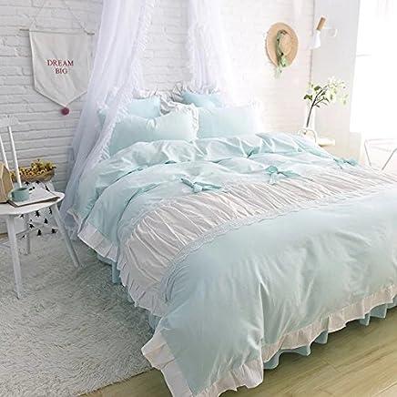レース100%棉 姫系 かわいい寝具カバーセット (セミダブル)