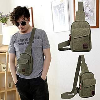Elongated Fabric Cross Body Bag - Green