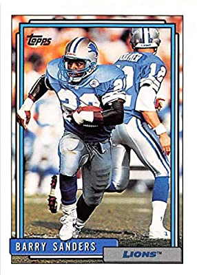 1992 Topps Football #300 Barry Sanders Detroit Lions Official Series One NFL Trading Card From The Topps Company