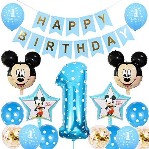 Palloncini Party Mickey, BESTZY Palloncino Compleanno Numero 1...