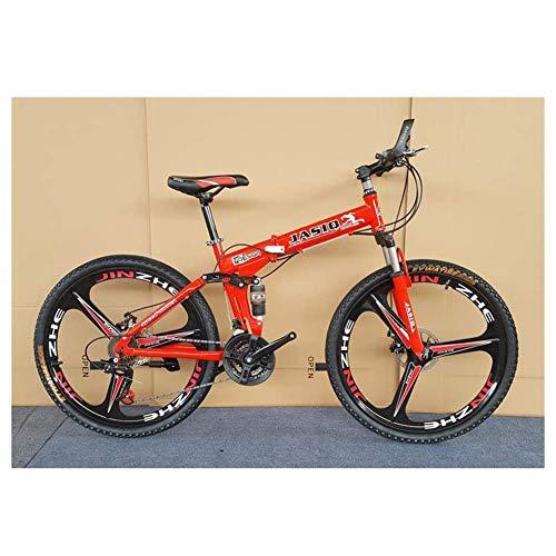 ShiSyan Y-LKUN Bicycle Bike Outdoor Sports Mountain Bike 26 Inch Wheel Steel Frame 3Spoke Wheels Dual Suspension Road Bicycle (21 Speed) (Color : Red)