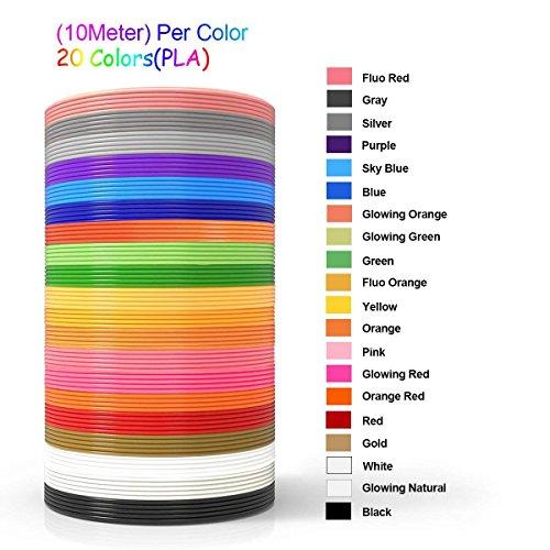 NuoYo PLA Filament 3D Stift PLA Filament 1.75mm 3D Pen 20 Farben 3D Print Filament 3D Printer Material 1.75mm für 3D Drucker 10m/1pcs - 3