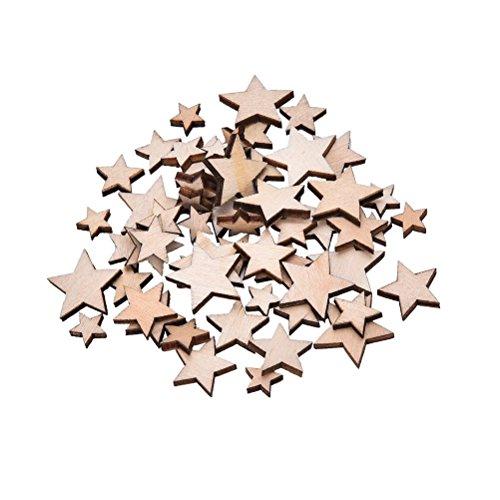 100x da. WA madera estrellas de madera mixto manualidades tarjeta para álbumes...