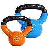 #DoYourFitness 2er-Set Kettlebell »Kolossos« Kugelhantel bis zu 30kg Gesamtgewicht/Handgewicht...