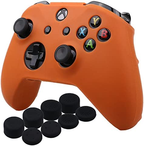 YoRHa Silicone Cover Skin Case for Microsoft Xbox One X Xbox One S Controller x 1 Orange with product image