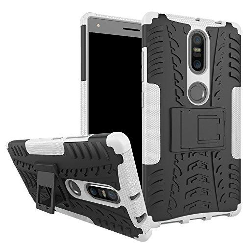 SsHhUu Lenovo Phab2 Plus Hülle, Premium Rugged Stoßdämpfung und Staubabweisend Kompletter Schutz Hybrid-Koffer mit Ständer Telefon Kasten für Lenovo Phab2 Plus (6.4