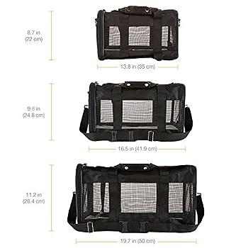 AmazonBasics AMZSC-002 Sac de Transport à Parois Souples pour Animal de Compagnie Noir Taille M
