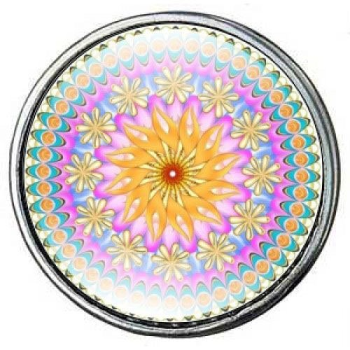 Click-Button Standard (18mm) Limited Edition, Mandala 4 ...by Kult-Schmuck