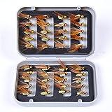 CHSEEO 40 Stück Angel-Fliegen Kunstköder Set Angel-Köder Fliegen Forellenköder Fliegen Fischen Köder Haken Perfekt zum Zander Angeln Barsch Forelle Dorsch Angelzubehör Angelset #1