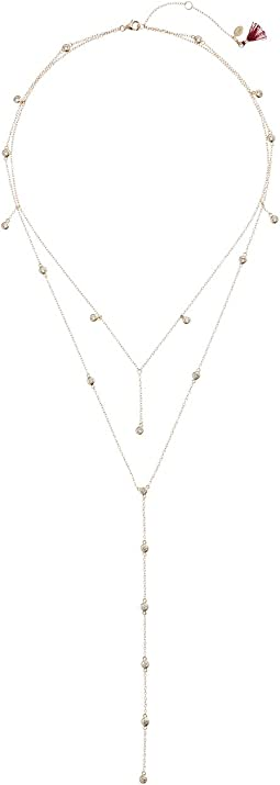 SHASHI - Diamond Dangle Lariat Necklace
