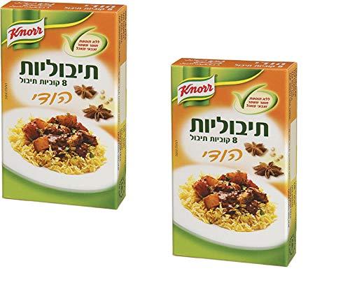 2X Knorr Indian Seasoning 8 Cubes Tibulit Cooking Kosher Dish 72gr
