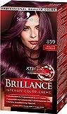 SCHWARZKOPF BRILLANCE Intensiv-Color-Creme 859 Violette Wildseide Stufe 3, mit extra Diamant-Glanz-Nachbehandlung, 3er Pack (3 x 143 ml)