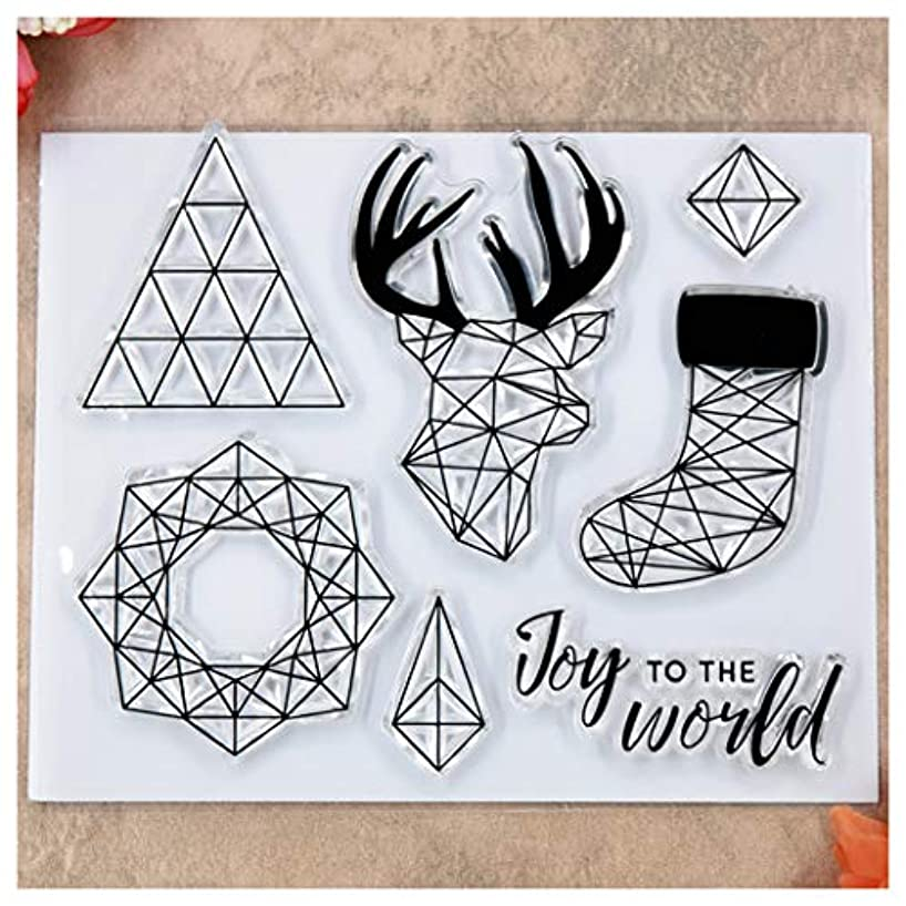 Kwan Crafts Merry Christmas Joy to The World Deer Clear Stamps for Card Making Decoration and DIY Scrapbooking