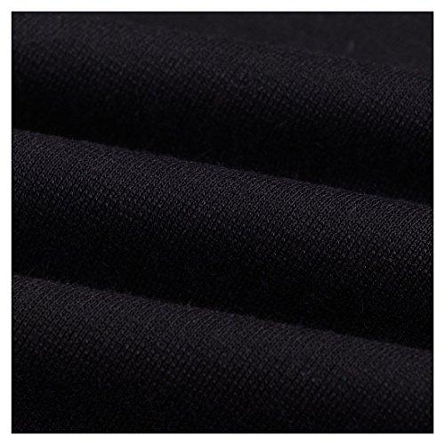 Miusol Damen Kleid Mit 3/4-Arm Hahnentritt Muster mit Reissverschluss vorne?Business Abendkleider Schwarz EU 44/46/XXL - 7