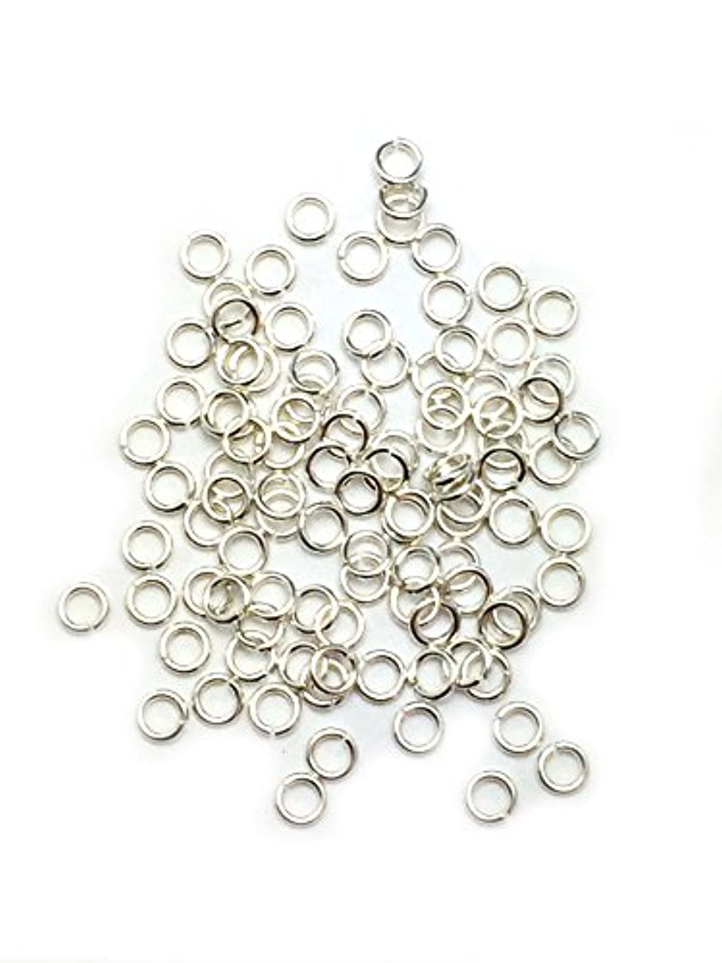 100 Sterling Silver Round Open Jump Rings 2.6mm 24 Gauge by Craft Wire