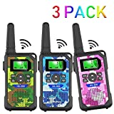 Walkie Talkie Kids,3 KM Long Range Walkie Talkie Toys with 8 Channels, 2