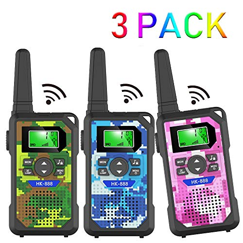 Walkie Talkie Kids,3 KM Long Range Walkie Talkie Toys with 8 Channels, 2 Way...