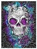 Pintura por números para Kits de Lona laminados para Adultos para Artistas Principiantes-Acuarela acrílica Pintura-Pintura al óleo Artes artesanía decoración Regalo - cráneo púrpura (Size : 50x60cm)