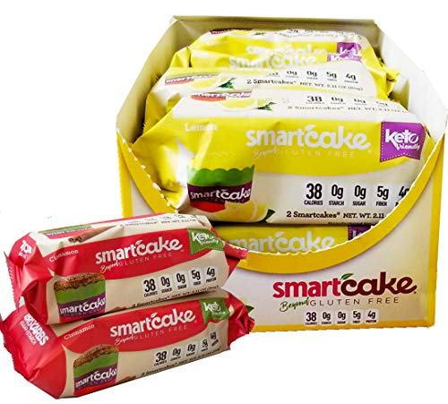 SMARTCAKE BUNDLE: 1x LEMON SHIPPER and 2x CINNAMON TWIN PACKS: GLUTEN FREE, SUGAR FREE, LOW CARB SNACK CAKES: TOTAL OF 10x twin packs