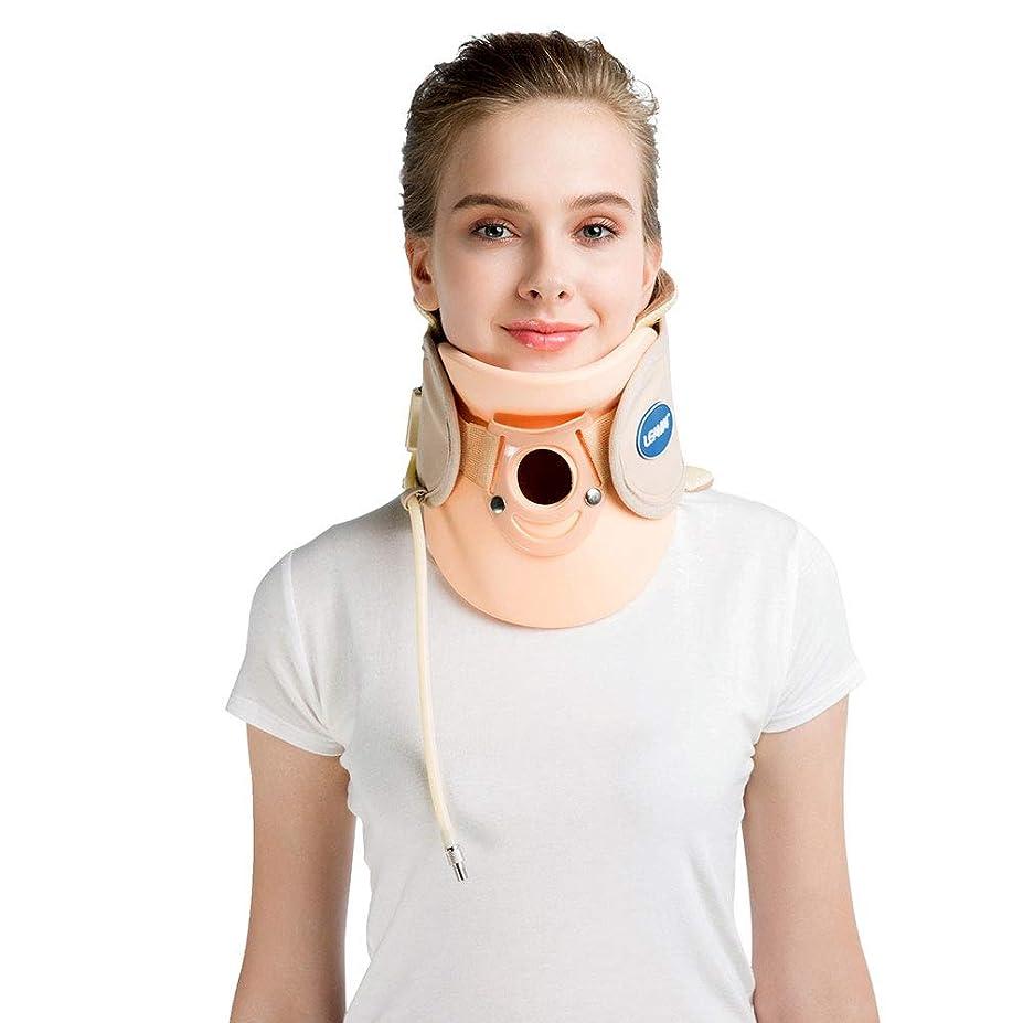排泄するつぶす栄養首頸椎椎トラクターバックネックマッサージャー痛軽減ポータブルインフレータブル子宮頸部牽引装置ホームユース,C