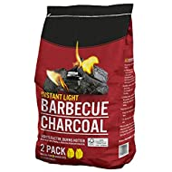 AMOS Instant Light Barbecue Charcoal 2 x 850g BBQ Grill Coal Bags