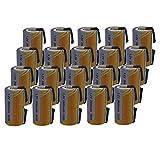 20 X Batteria Pila SC 2000mAh 2.0Ah Ni-Cd 1,2V con lamelle a saldare per pacchi batterie trapani...