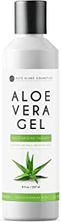 Aloe Vera Gel from Freshly Cut Organic Pure Aloe Plant by Kate Blanc. Great for Hair and Face. Relieves Sunburn, Dry Scalp, Irritated Skin with No Sticky Residue. DIY Hand Sanitizers (16 oz)