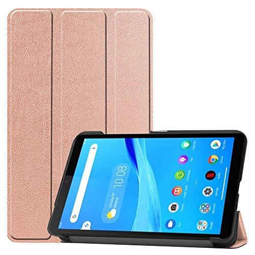 KM-WEN - Funda para tablet LG G Pad 5 LM-T600L (10,1 pulgadas), diseño de galaxia oro rosa Lenovo Tab M7 (7.0 Inch)