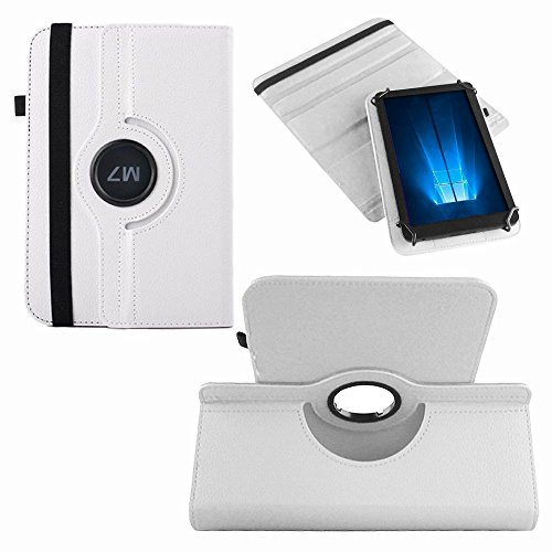 UC-Express Hülle Captiva Pad 7 Tablet-PC Tasche Schutzhülle Universal Case Cover NAUCI, Farben:Weiß