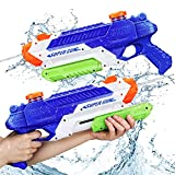 2021NEW Water Gun for Kids, 1000CC Squirt Gun for Kids, 2 Pack Water Guns for Kids, Water Blasters Squirt Guns for Kids, Water Squirt Guns for Adults, Watergun for Swimming Pool Beach Sand Play Gifts