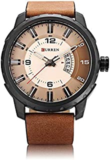 Curren Sport Watch For Men Analog Leather - 8245
