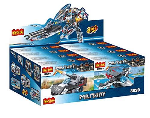Cogo Juego Bloques Construcción Pack 8 Paquetes Buque Guerra y Robot Combate...