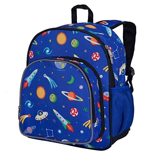 Wildkin 12 Inch Kids Backpack for Toddlers, Boys & Girls, 600 Denier Polyester Backpack for Kids, Ideal Size for School & Travel Backpacks, Mom's Choice Award Winner, BPA-free (Out of this World)