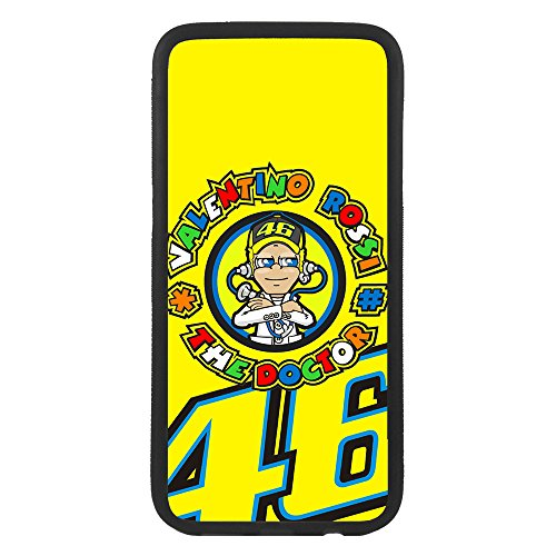 afrostore Funda Carcasa de móvil para Apple iPhone 7 Valentino Rossi 46 The Doctor TPU Borde Negro