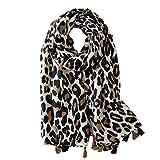 Ecroon Pañuelos Fular Foulard Mujer Bufandas Estampado Chales algodón Chal Estolas Pashminas Elegante Suave Bufanda Chal Cuello Tiras