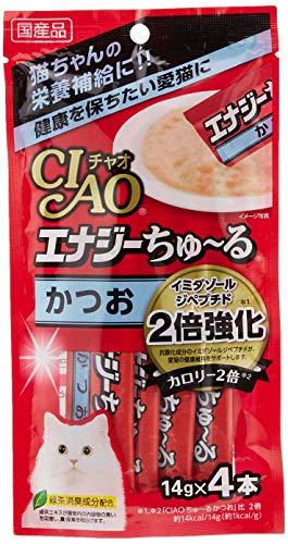 チャオ (CIAO) 猫用おやつ エナジーちゅ~る かつお 14グラム (x 6) (まとめ買い)